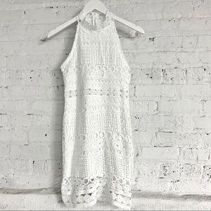 Dresses & Skirts - White Lace Mini Dress Small Like New